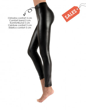 THERMISCHE KUNSTLEDER LEGGINGS