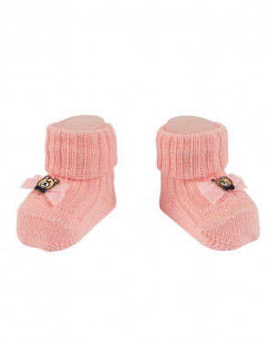 BABY SOCKEN AUS WOLLE - TEDDY BEAR