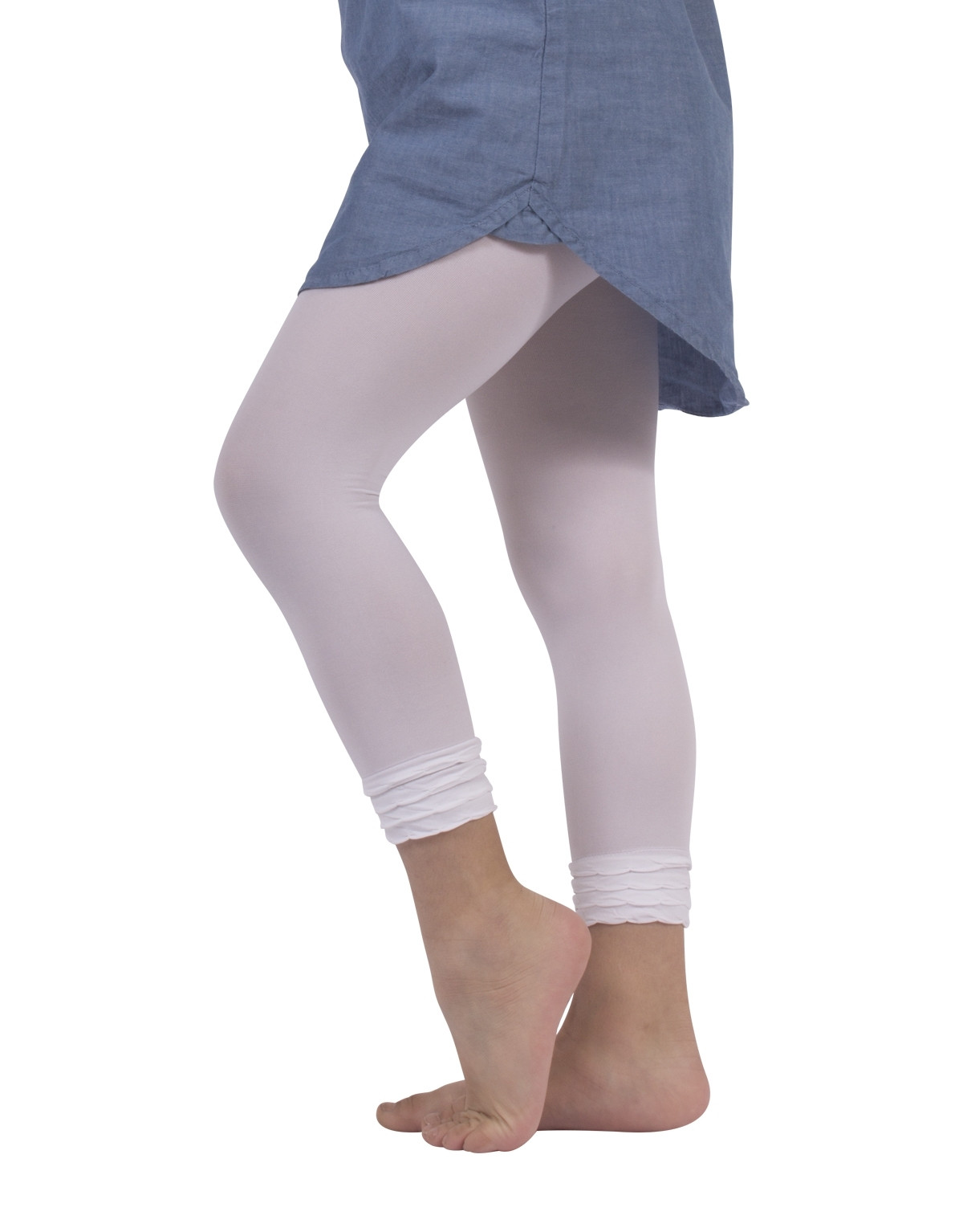 LEGGINGS IN MICROFIBRA CON BALZE - 50 DEN