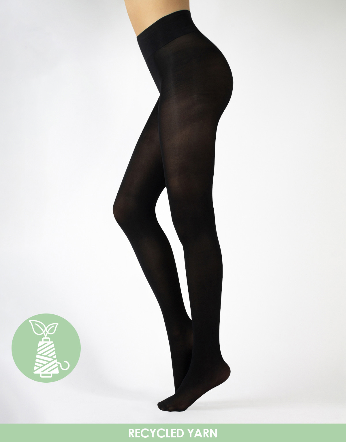 OPAQUE TIGHTS MADE OF RECYCLED YARN QNOVA - 50 DEN