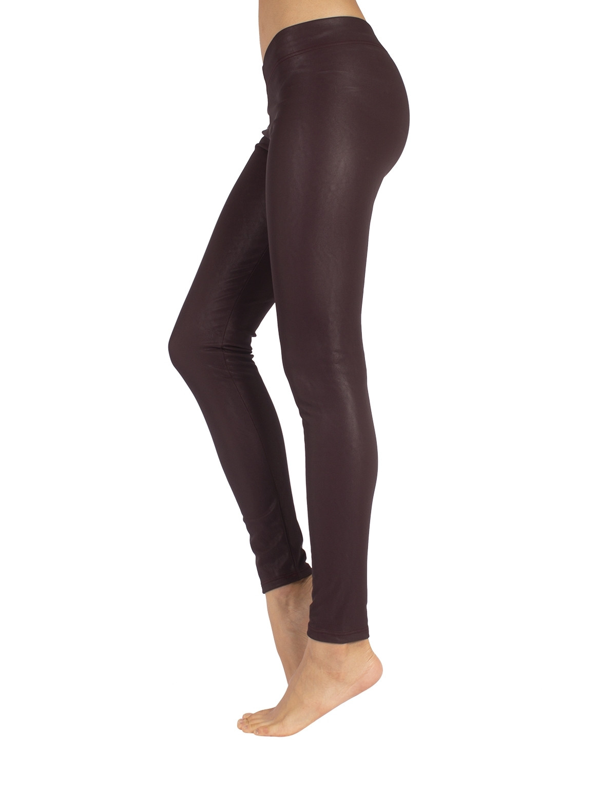 LEGGINGS PELLE TERMICI BORDEAUX