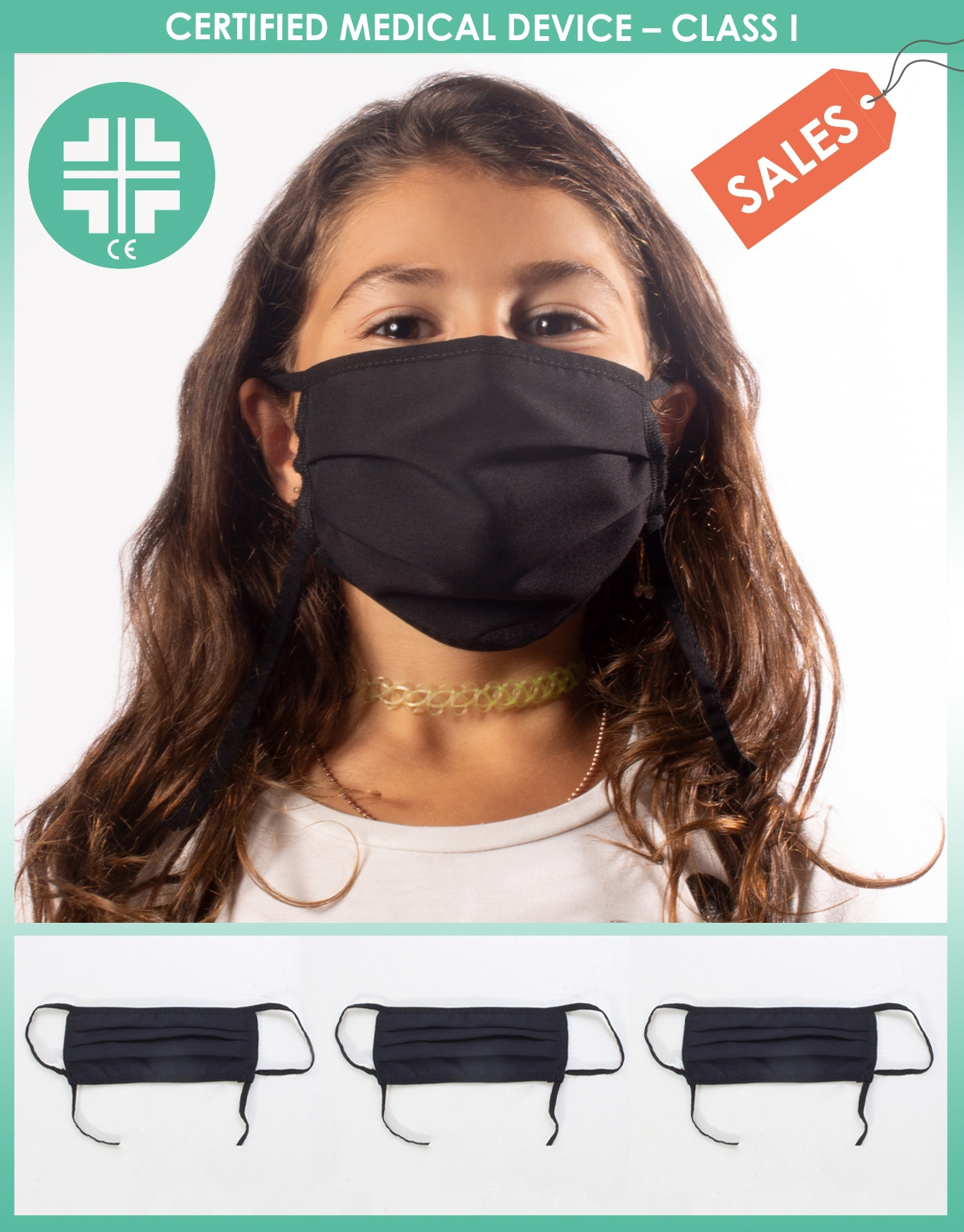 SURGICAL WASHABLE FACE MASK – MEDICAL DEVICE TYPE I FOR CHILDREN