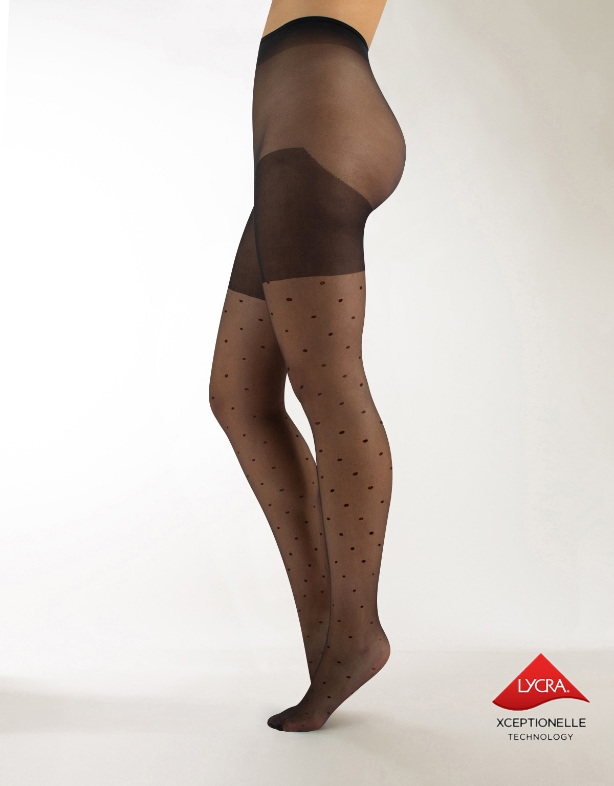 PLUS SIZE POLKA DOTS TIGHTS – 20 DEN