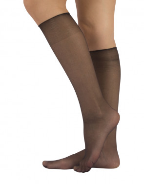 SHEER KNEE-HIGH SOCKS - 15 DEN