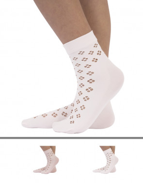 PELERINE SOCKS FLOWER DESIGN