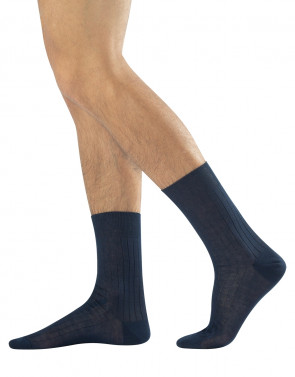 RIBBED SOCKS - FILO DI SCOZIA