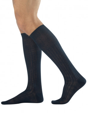 MEN RIBBED KNEE HIGH SOCKS FILO DI SCOZIA