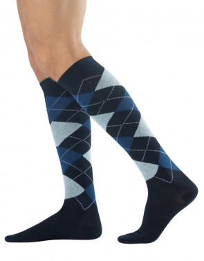 WARM COTTON LONG SOCKS - ARGYLE TARTAN