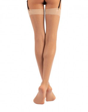 STOCKINGS WITH BACK SEAM - 15 DEN