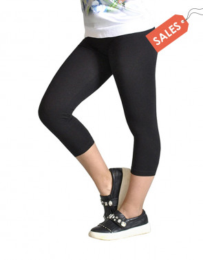 GIRL CROPPED COTTON LEGGINGS