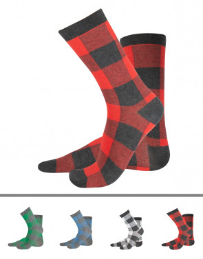 CHECKERED COTTON SOCKS