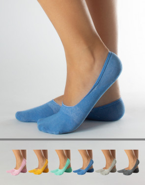 COLOURED COTTON SHOE LINERS