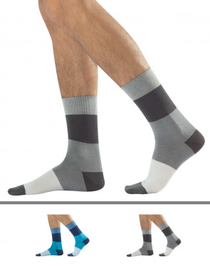 MEN COTTON SOCKS - HORIZONTAL STRIPES