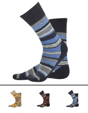MERINO WOOL SOCKS - STRIPES