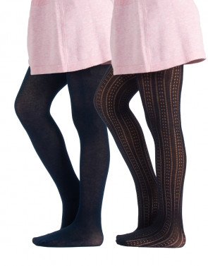 GIRL COTTON TIGHTS - VERTICAL PATTERNS