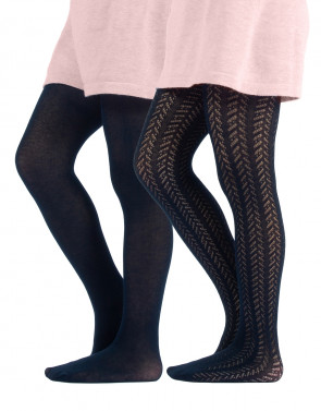GIRL COTTON TIGHTS - CHEVRON