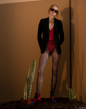 FISHNET TIGHTS FAN PATTERN