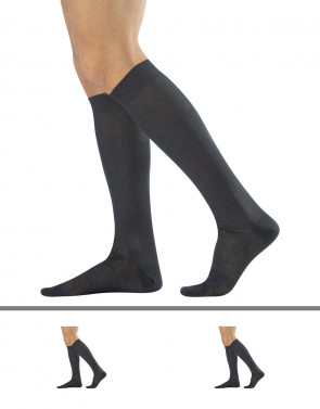 MEN PLAIN KNEE HIGH SOCKS FILO DI SCOZIA