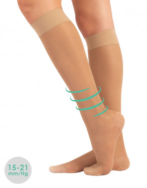 STRONG COMPRESSION KNEE-HIGH SOCKS - 140 DEN