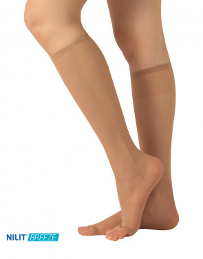 OPEN TOE KNEE-HIGH SOCKS - 10 DEN
