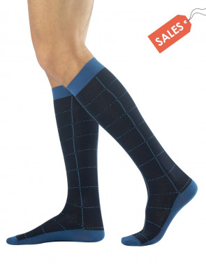 WARM COTTON LONG SOCKS - TARTAN