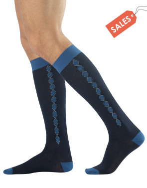 MENS WARM COTTON LONG SOCKS - ARGYLE